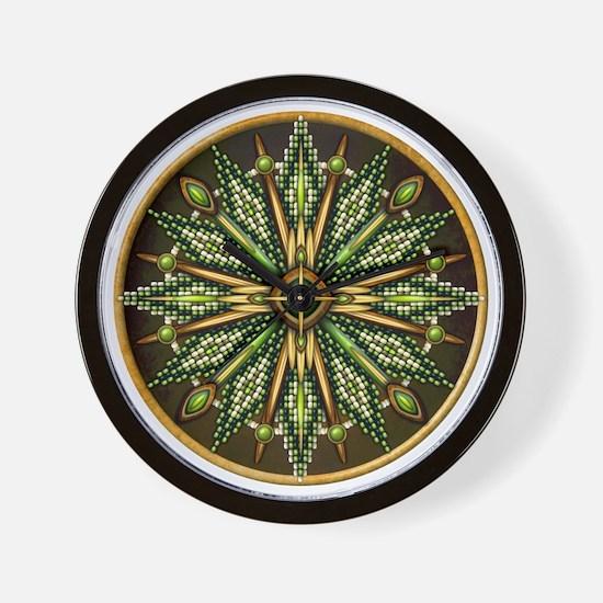 Native American Rosette 11 Wall Clock