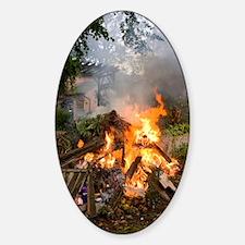 Bonfire in domestic garden Decal