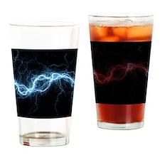Bolt of lightning, computer artwork Drinking Glass