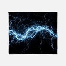 Bolt of lightning, computer artwork Throw Blanket
