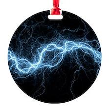 Bolt of lightning, computer artwork Ornament