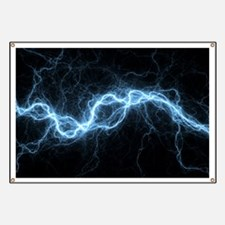 Bolt of lightning, computer artwork Banner