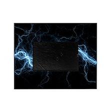 Bolt of lightning, computer artwork Picture Frame