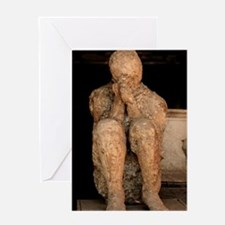 Body cast, Pompeii Greeting Card