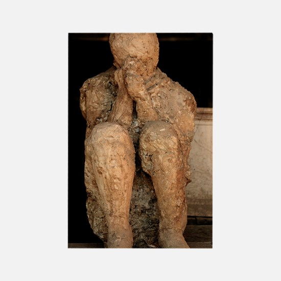 Body cast, Pompeii Rectangle Magnet