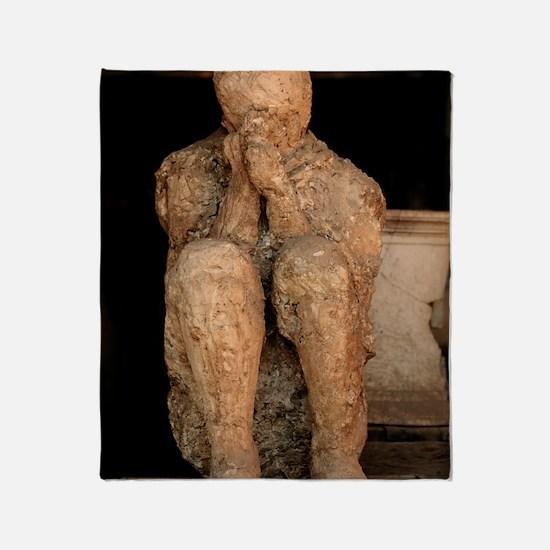 Body cast, Pompeii Throw Blanket
