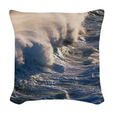 Breaking wave Woven Throw Pillow