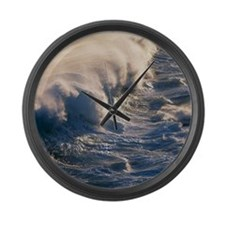 Breaking wave Large Wall Clock