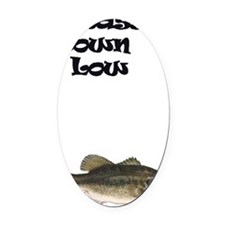Bass Down Low Oval Car Magnet