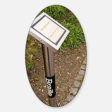 Braille sign in botanical garden Decal