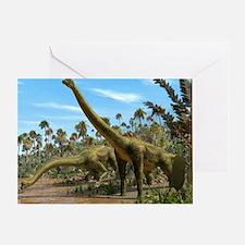 Brachiosaurus dinosaurs Greeting Card