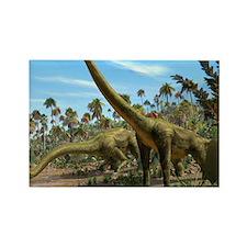 Brachiosaurus dinosaurs Rectangle Magnet