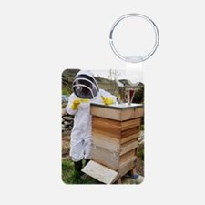 Beekeeper with EpiPen Keychains