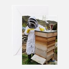 Beekeeper with EpiPen Greeting Card