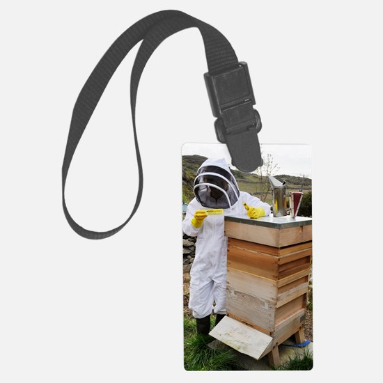 Beekeeper with EpiPen Luggage Tag