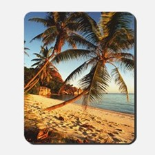 Beach with palm trees Mousepad