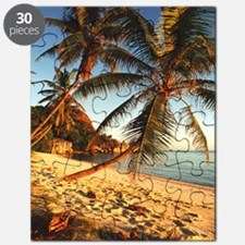 Beach with palm trees Puzzle