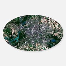 Berlin, Germany, satellite image Decal