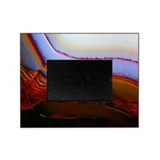 Banded texture in agate Picture Frame