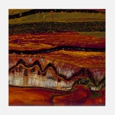 Banded iron formation Tile Coaster