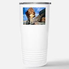 Balancing rock caused by water  Travel Mug