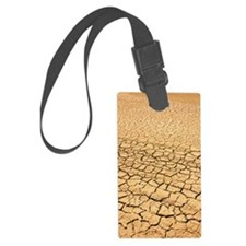 Baked earth at bottom of waterco Luggage Tag