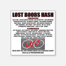 """201207 Lost Boobs Square Sticker 3"""" x 3"""""""
