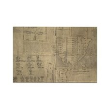 Aztec map, 16th century Rectangle Magnet