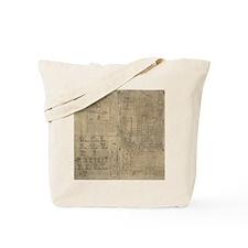 Aztec map, 16th century Tote Bag
