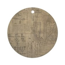 Aztec map, 16th century Round Ornament