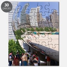 Cloud Gate sculpture in Chicago Puzzle