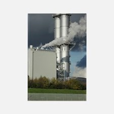 Combined cycle gas turbine power  Rectangle Magnet