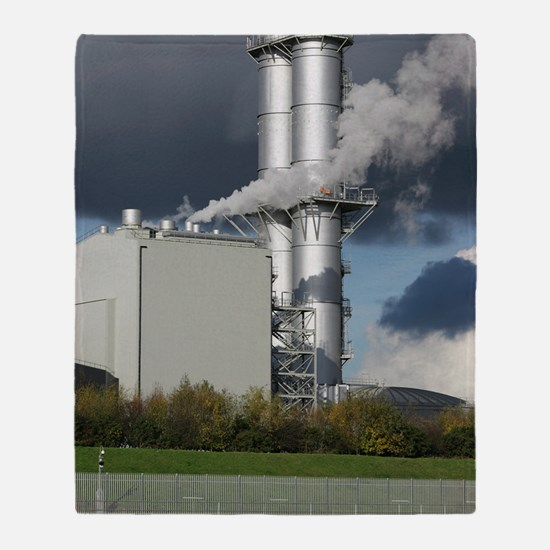 Combined cycle gas turbine power sta Throw Blanket