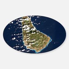 Barbados, satellite image Decal