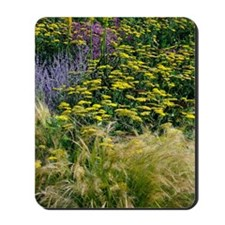 Colourful flower bed Mousepad