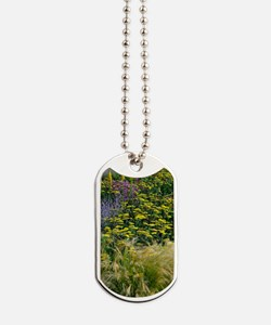 Colourful flower bed Dog Tags