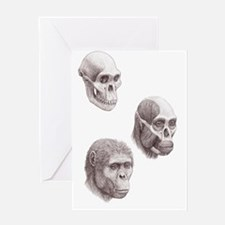 Australopithecus africanus Greeting Card