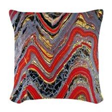 Banded iron formation Woven Throw Pillow