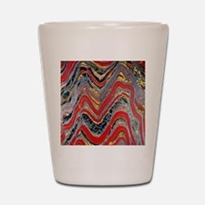 Banded iron formation Shot Glass