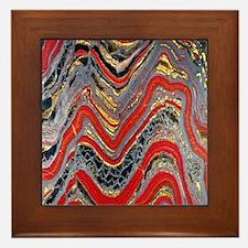 Banded iron formation Framed Tile