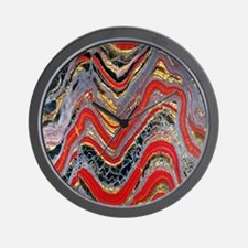 Banded iron formation Wall Clock