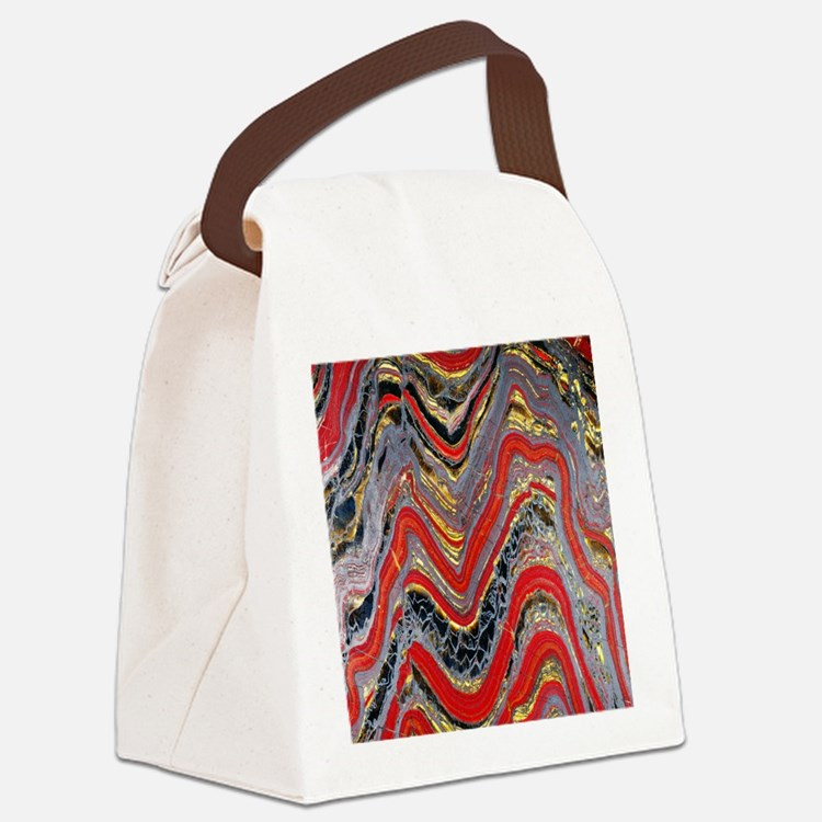 Banded iron formation Canvas Lunch Bag