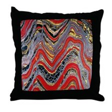 Banded iron formation Throw Pillow