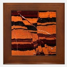 Banded iron formation Framed Tile