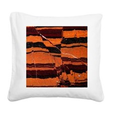Banded iron formation Square Canvas Pillow