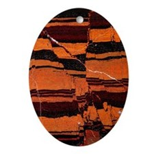 Banded iron formation Oval Ornament