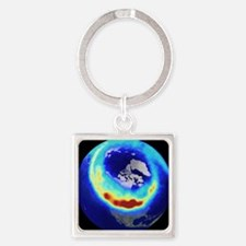 Aurora from space Square Keychain