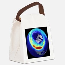 Aurora from space Canvas Lunch Bag