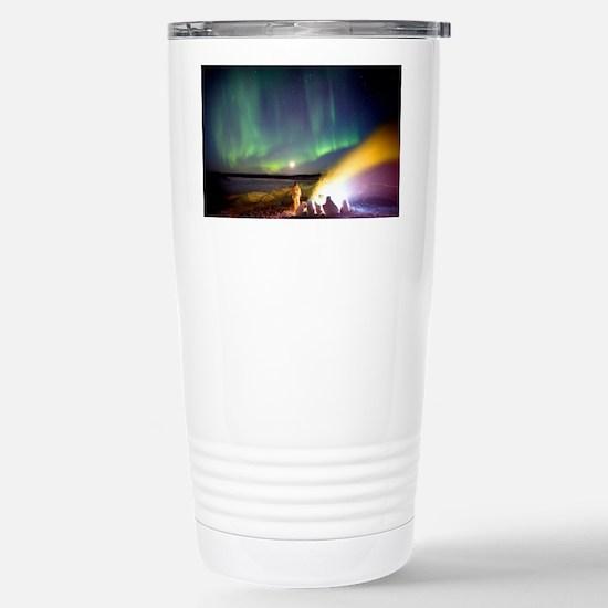 Aurora borealis in Alaska Stainless Steel Travel M