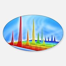 Chromatogram, 3D View Sticker (Oval)